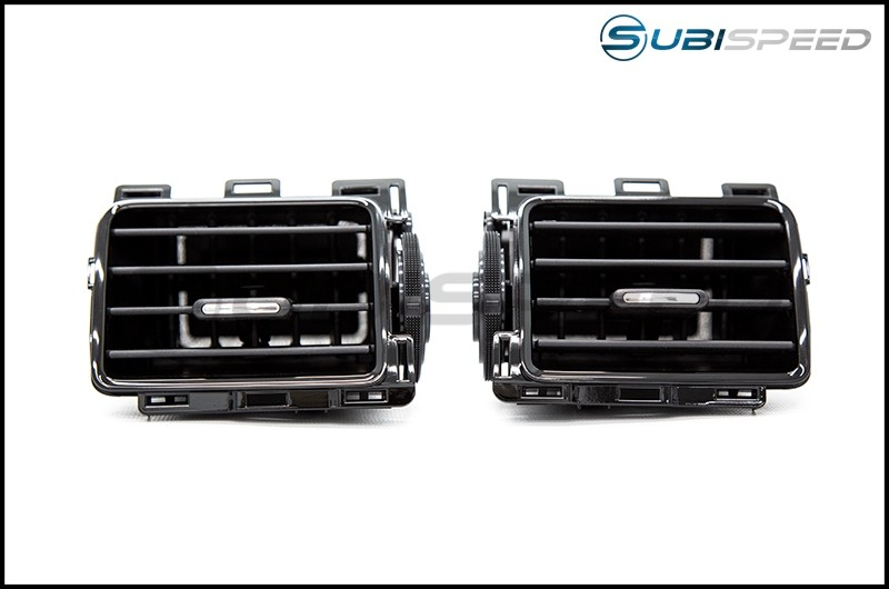 Subaru OEM JDM AC Vents with Piano Black Trim (Center)