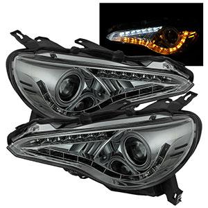 Spyder LED Headlight - Smoked : 8000K BRZ Halo (444-SUBRZ12-CCFL-SM)