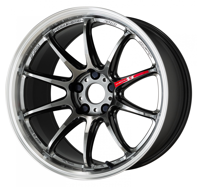 Work Wheels Emotion ZR10 18x8.5 +38 Glim Black Diamond Rim Cut (GTKRC) - 2015+ WRX / 2015+ STI