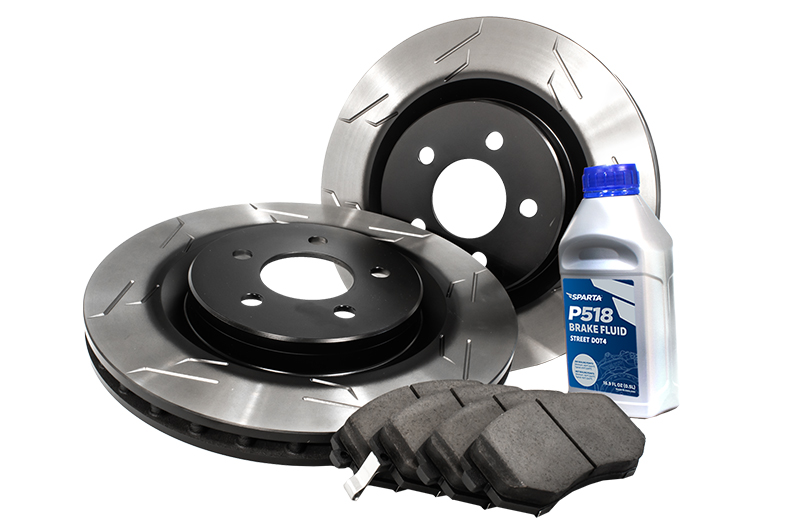 Sparta Evolution Rear Brakes Stage 1 Brake Kit (1BK) - Pad-Rotor Combo (wing-slot)
