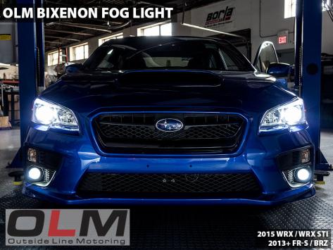 OLM Bixenon Low / High Beam Projector Fog Lights - 2015-2021 Subaru WRX & STI / 2013-2016 FR-S / BRZ / 2014+ Forester / 2013+ Crosstrek / 2017-2020 Impreza