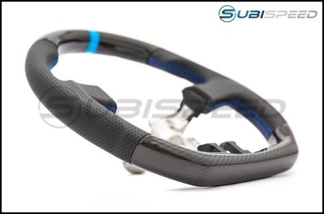 FT-86 SpeedFactory Carbon Fiber Blue Stitching Steering Wheel - 2013-2016 FR-S / BRZ / 86