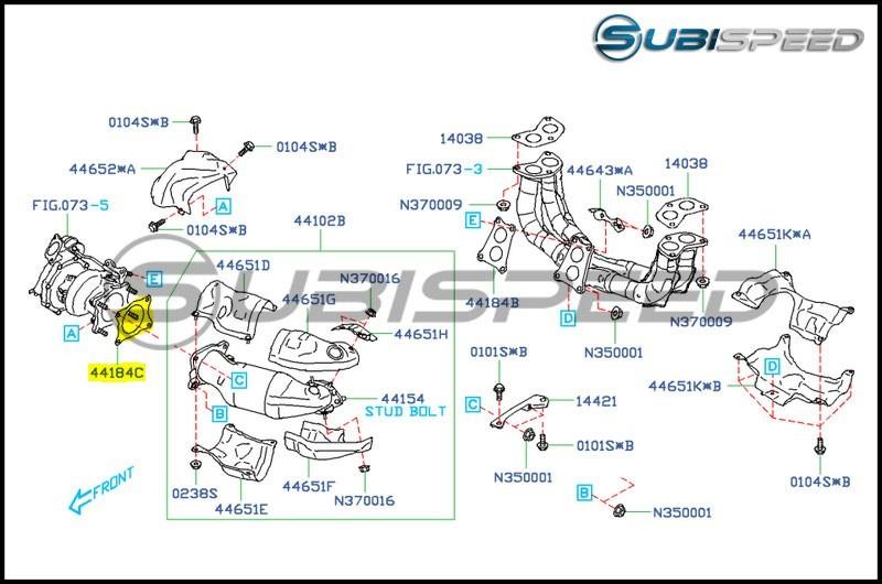 Subaru OEM Turbo to J Pipe Gasket