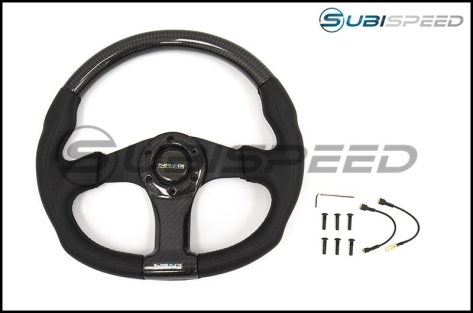 NRG 315mm Carbon Fiber Steering Wheel With Black Stitching - Universal
