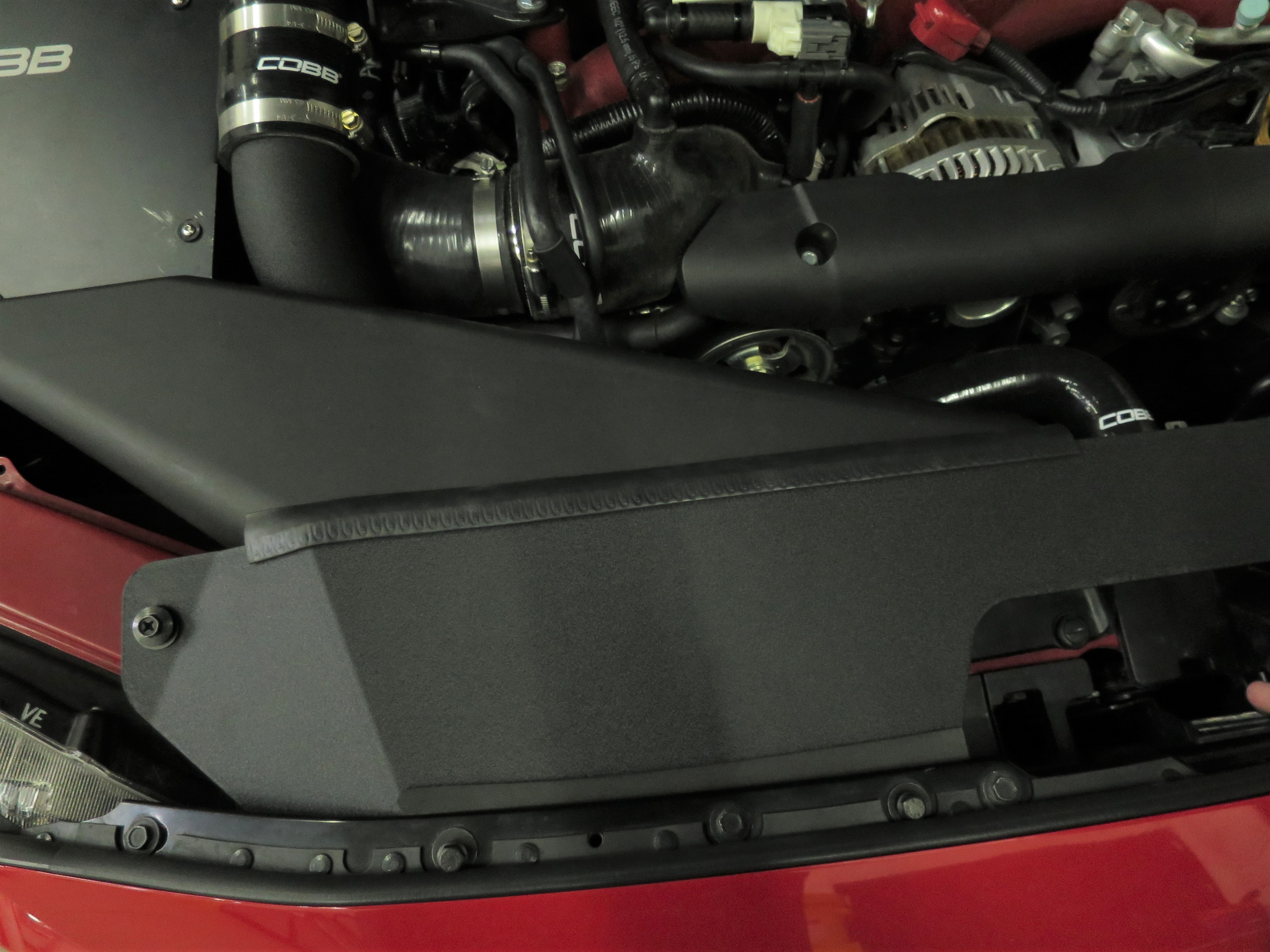 COBB Tuning Aluminum Radiator Shroud Black
