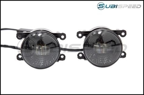 OLM Midnight Edition LED Fog Lights - 15+ WRX / STI / 13-16 BRZ / 13-18 Crosstrek / 14-18 Forester / 13-16 FR-S / BRZ / 86