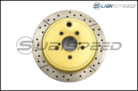 DBA Street Series Cross Drilled and Slotted Rear Rotors - 2013+ FR-S / BRZ / 86