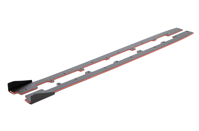 Maxton Design Racing Side Diffusers (Black+Red) with Winglets
