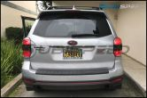 Sticker Fab Front and Rear 3D Carbon Fiber Emblem Overlays - 2014-2016 Forester