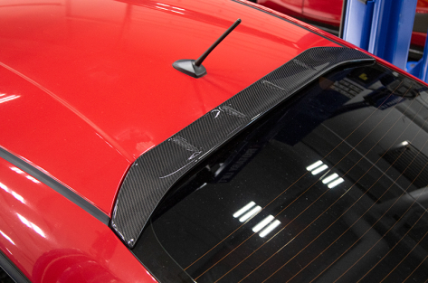 OLM Carbon Fiber Aggressive Style Rear Roof Spoiler