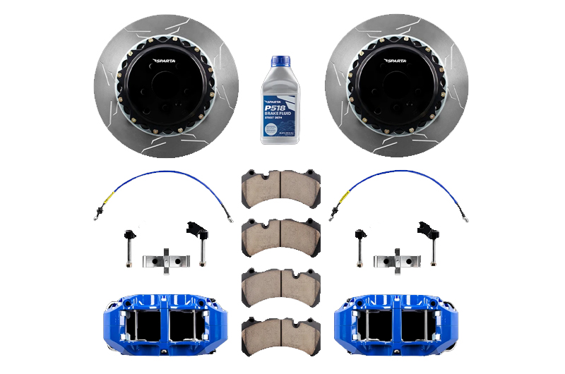 Sparta Evolution Brakes Big Brake Kit (BBK) Rear - Saturn-Blue Powdercoat