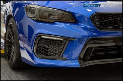 OLM Facelift JDM Style DRL / Sequential Turn Signal Bezel (No Fog Hole) - 2018-2021 Subaru WRX & STI