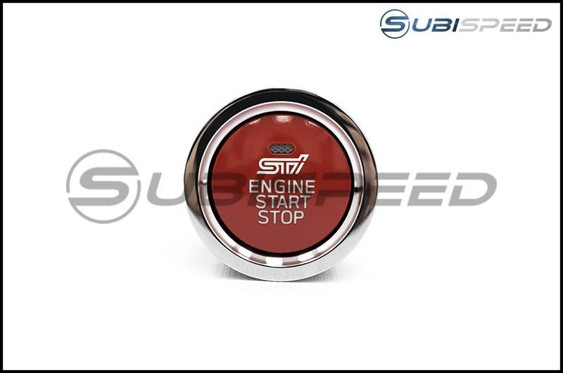 Subaru STI Red JDM Push to Start Button with Status Light
