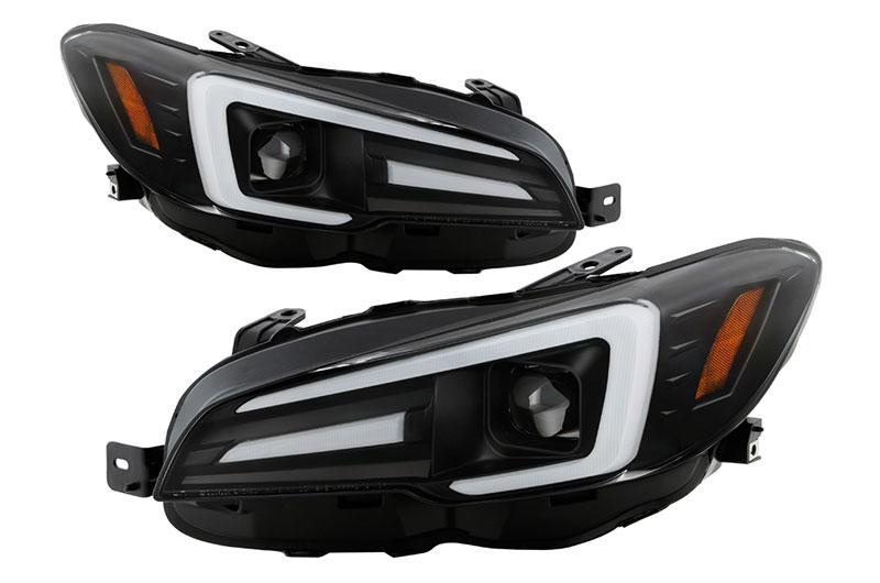 Spyder Apex LED Series Headlights - Black (LED Vehicle Version)