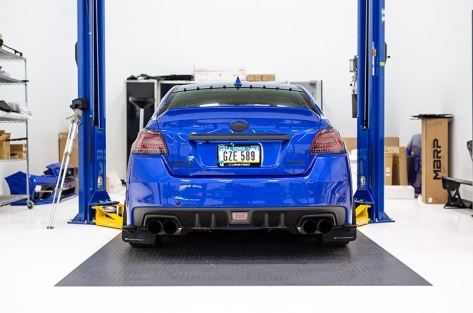 OLM Single Point Paint Matched Duckbill Trunk Spoiler - 2015+ WRX / 2015+ STI