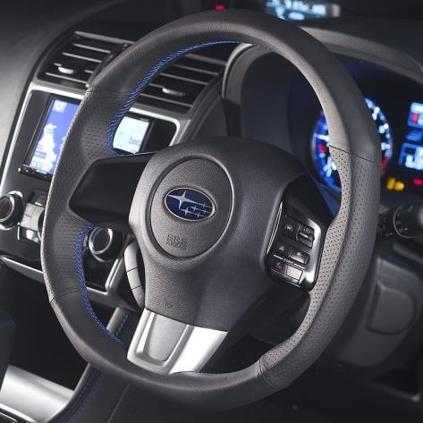 DAMD D Shaped Steering Wheel (Blue Stiching)