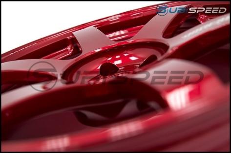 Volk TE37 SAGA Hyper Red 18x10 +41 - 2015+ WRX / 2015+ STI