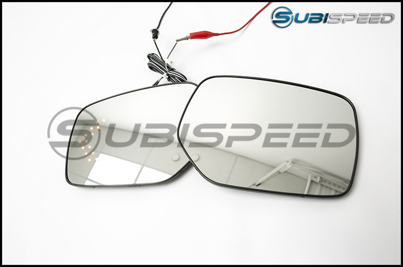 OLM Wide Angle Convex Mirrors with Turn Signals and Defrosters (Clear)