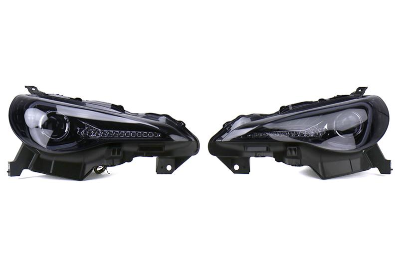 Spec-D Projector Headlights Glossy Black Smoked Lens