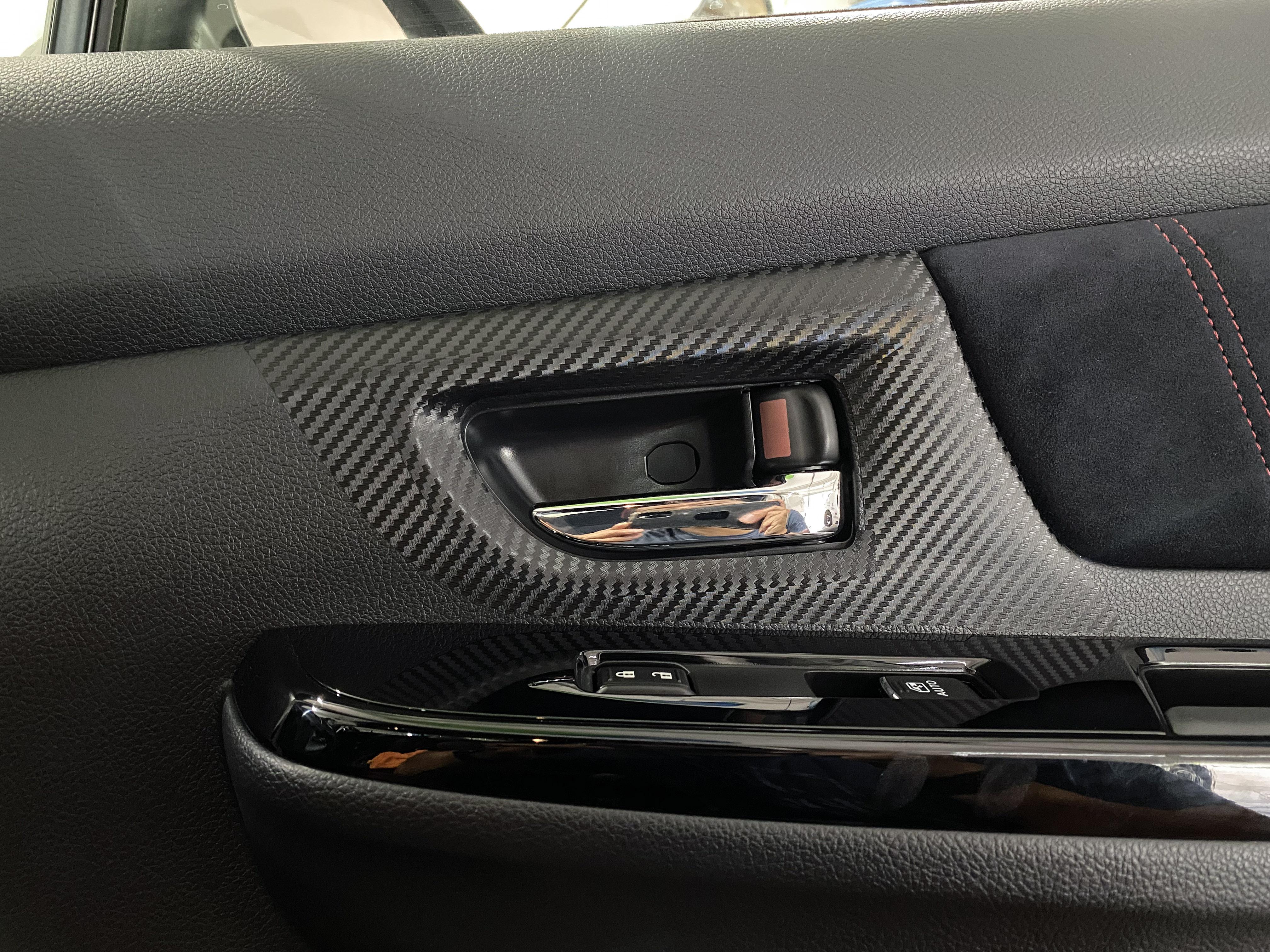 Sticker Fab 3D Carbon Interior Door Handle Trim Overlays