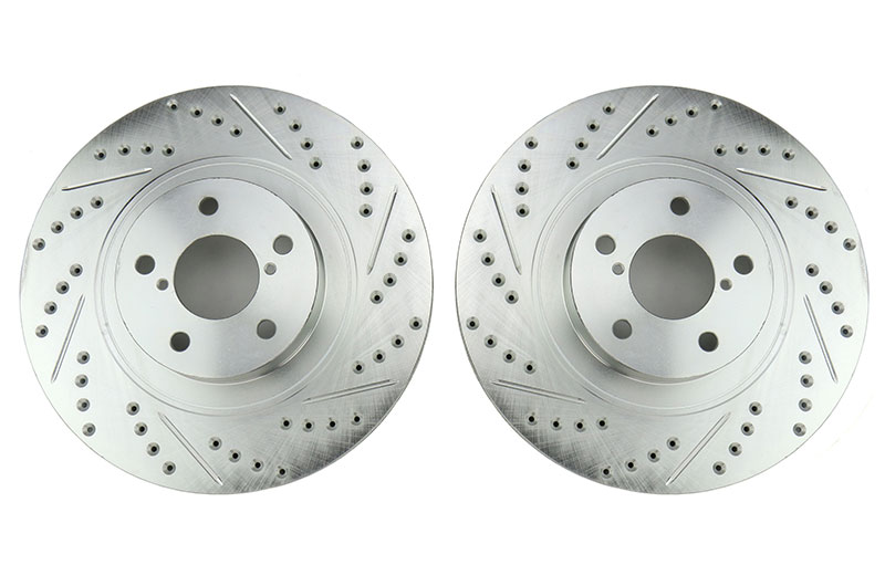 Stoptech C-Tek Sport Drilled and Slotted Front Rotor Pair