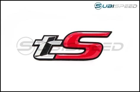 Subaru tS Rear Emblem with Mounting Template - 13+ BRZ - 2013+ BRZ
