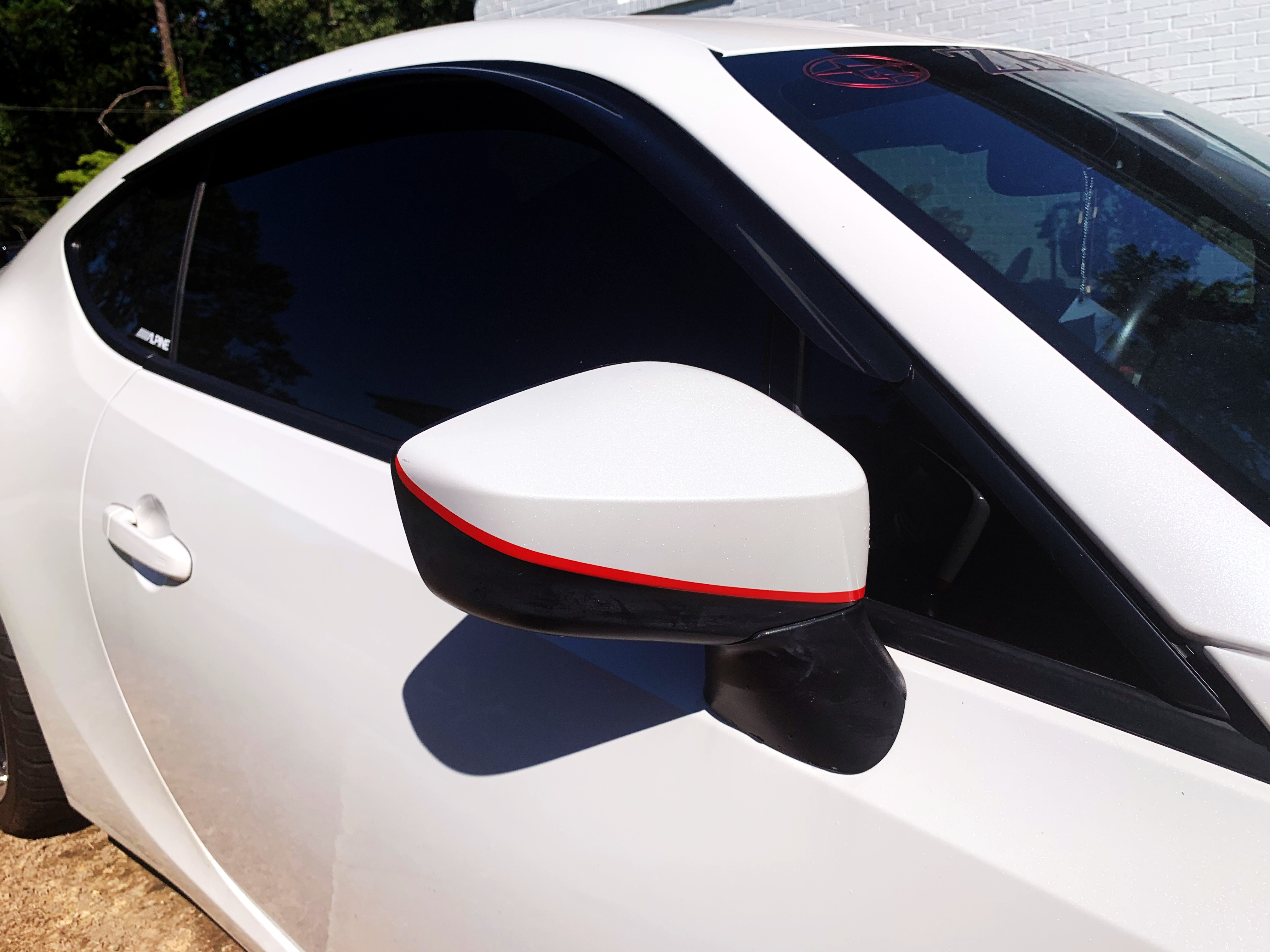 Sticker Fab JDM Style Mirror Pinstripes